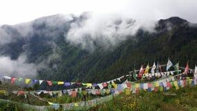 Bumree山在Paro,不丹 免版税库存图片