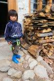Bumthang,不丹- 2016年9月13日:vi的甜小女孩 库存图片