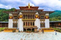 Bumthang Bhutan, Wrzesień, - 13, 2016: Tradycyjny Bhutanese tem Zdjęcia Stock