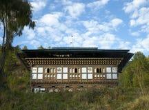 Bumthang land-hus Arkivbilder