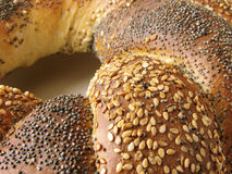 Bun 1. Sweet bun fragment as a bakery background Stock Photos