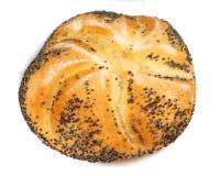 Bun. Macro photo of bun isolated on white stock photo