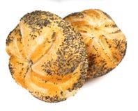 Bun. Macro photo of buns isolated on white Stock Photos