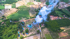 Bun Bang Fai rocket festival. Bun Bang Fai, or the rocket festival is a merit making ceremony traditionally practiced by ethic Lao people throughout much of Royalty Free Stock Image