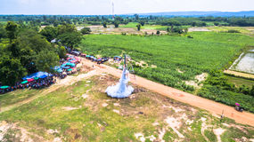 Bun Bang Fai rocket festival. Bun Bang Fai, or the rocket festival is a merit making ceremony traditionally practiced by ethic Lao people throughout much of Stock Photos