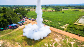 Bun Bang Fai rocket festival. Bun Bang Fai, or the rocket festival is a merit making ceremony traditionally practiced by ethic Lao people throughout much of Royalty Free Stock Photos