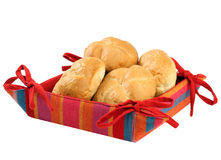 Bun in the basket Royalty Free Stock Images