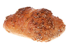 Bun of big french rye bread Stock Images
