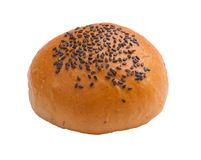 Bun with black sesame topping Royalty Free Stock Photos