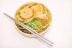 Bun bo or Vietnamese vermicelli noodles Stock Image