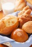 Bun,bread in basket for breakfast royalty free stock image