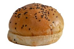 Fresh bun bread with sesame