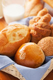 Bun,bread and croissant  for breakfast Royalty Free Stock Images