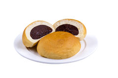 Bun bread isolated Stock Photography