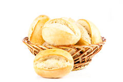 Bun bread isolated on white background roll bakery product Stock Images