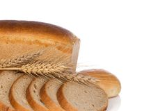 Bun and bread with spike Royalty Free Stock Photography