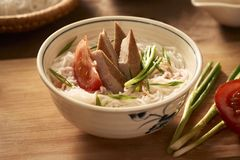 Bun cha ca - one of most popular soup noodle in the seaside area royalty free stock images