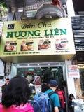 Bun Cha - Huong Lien eatery in Hanoi, Vietnam Stock Image