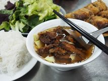 Bun Cha, one of Hanoi's `Must try` dishes Stock Photography