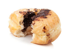 Bun with chocolate Stock Images
