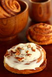 Bun with cinnamon Royalty Free Stock Photo
