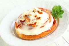 Bun with cinnamon Royalty Free Stock Images