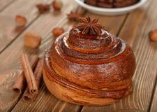 Bun with cinnamon Royalty Free Stock Photo
