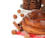 Bun with cinnamon Stock Image