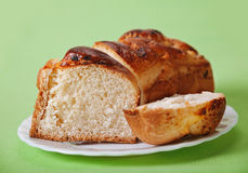 Bun with cottage cheese Stock Images