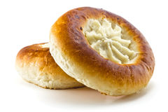 Bun with curd Royalty Free Stock Photo