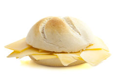 Bun with dutch cheese Stock Photography