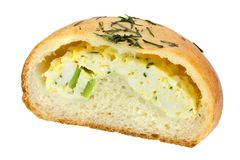 Bun filled with eggs Stock Image