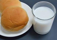 Bun filling sweet bean and milk Royalty Free Stock Image