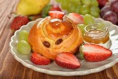 Bun with fruit Stock Images