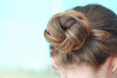 Bun hair Stock Photos