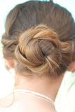 Bun hair Stock Photography