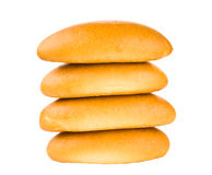 Bun for hot dog isolated Stock Images