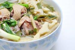 Bun Mang Vit or Vietnamese Rice Vermicelli Stock Images