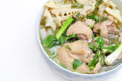 Bun Mang Vit or Vietnamese Rice Vermicelli Stock Photo