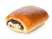 Bun with poppy seeds Stock Photos