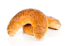 Bun with poppy seeds Royalty Free Stock Photography