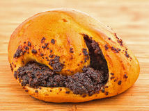 Bun with poppy seeds Royalty Free Stock Photo
