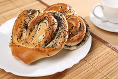 Bun with poppy seeds. Russian pastries Stock Photo