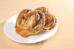 Bun with poppy seeds. Russian pastries Stock Photography