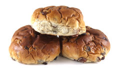 Bun with raisins Royalty Free Stock Photo