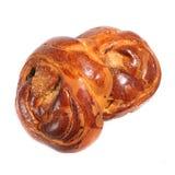 Bun roll on white background. Fresh sweet bun on a white background.  Bun roll on white background Stock Image