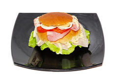 Bun sandwich Royalty Free Stock Image