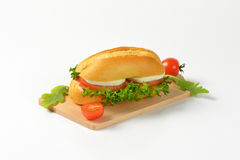 Bun Sandwich With Cheese And Vegetables Royalty Free Stock Photos