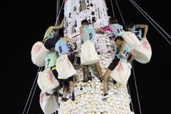 Hong Kong : Bun Scrambling Competition 2013 stock images