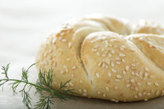 Bun with sesame Stock Photography
